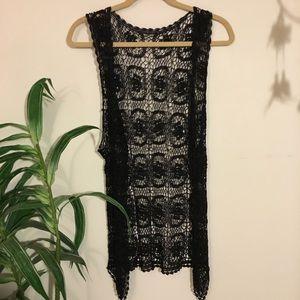 Vintage bohemian crochet vest